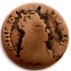 FRANTA, PROBA MONETARA, LOUIS XIV, LIARD 1655, UNIFATA ! CUPRU 23mm. / 4g., Europa, An: 1700, Cupru (arama)