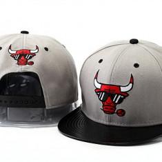 Sapca New Era Chicago Bulls - snapback - marime reglabila rap hip hop - Sapca Barbati, Marime: Alta, Culoare: Gri