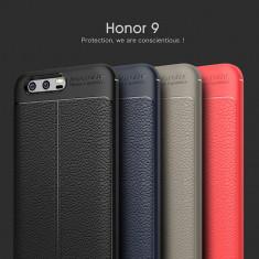 Husa / Bumper Antisoc model PIELE pentru Huawei Honor 9 - Husa Telefon, Negru