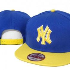 Sapca New Era New York Yankees - snapback - marime reglabila rap hip hop - Sapca Barbati, Marime: Alta, Culoare: Albastru