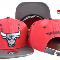Sapca Mitchell&Ness - Chicago Bulls - snapback - marime reglabila rap hip hop - Sapca Barbati, Marime: Alta, Culoare: Rosu