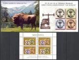 "MOLDOVA 2008 - 150 DE ANI DE LA TIPARIREA PRIMELOR MARCI POSTALE MOLDOVENESTI ""CAP DE BOUR"" - BLOC NESTAMPILAT - MNH+BROSURA / moldova117"