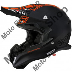 MBS Casca motocross Airoh Terminator 2.1, carbon, negru/portocaliu mat, M, Cod Produs: T2C32M