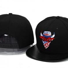 Sapca New Era Chicago Bulls - snapback - marime reglabila rap hip hop - Sapca Barbati, Marime: Alta, Culoare: Negru