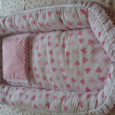 Baby-nest ( 0-6 luni ) Handmade - Cos bebelusi, Roz