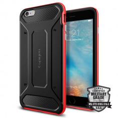 Husa Protectie Spate Spigen Neo Hybrid Carbon Black Red pentru Apple iPhone 6 Plus / 6S Plus - Husa Telefon SPIGEN, Gel TPU