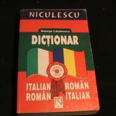 DICTIONAR ITAL- ROM- ROM- ITAL-GEORGE LAZARESCU-622 PG-