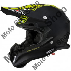 MBS Casca motocross Airoh Terminator 2.1, carbon, negru/galben mat, M, Cod Produs: T2C31M