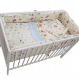 Lenjerie Mykids Baby Teddy Crem 4+1 Piese 140X70 - Lenjerie pat copii