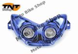 MBS Far complet 2 halogene Nitro/Aerox albastru, Cod Produs: 201352