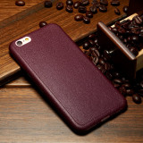 Husa iPhone 7 plus sau iPhone 8 plus, eleganta, tpu stil piele, rosu, GD128