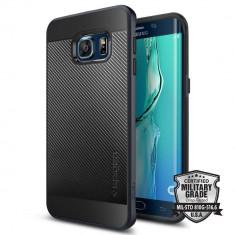 Husa Protectie Spate Spigen Neo Hybrid Carbon Metal Black pentru Samsung Galaxy S6 Edge - Husa Telefon