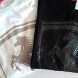 Tricou Puma, tricou Ferrari Big Logo (ALB SI NEGRU)