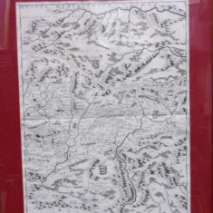 RUSSIA MERIDIONALE, NEGRA, MOLDAVIA, GRAVURA SEC 17 - Harta Romaniei