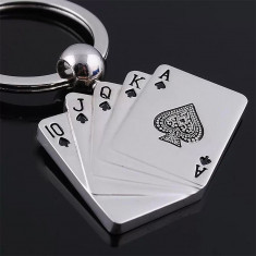 Breloc Poker metalic - Breloc Barbati