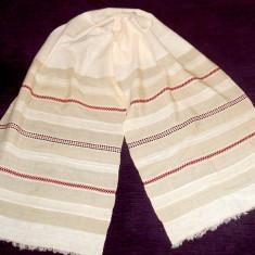 Stergar de borangic cu motiv tesut, vechime 100 ani, lungime 245cm