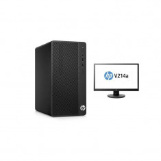 Sistem desktop HP 290 G1 MT Intel Celeron 3900 4GB DDR4 1TB HDD Black cu Monitor HP V214 20.7 inch - Sisteme desktop cu monitor