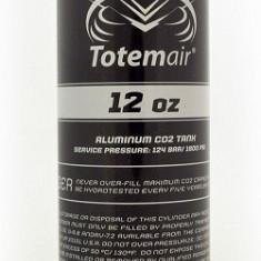 Butelie CO2 Paintball Totem Air 12 Oz Pi Bottle + On/Off Valve - Echipament paintball