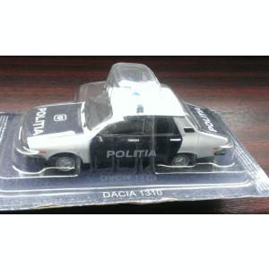 Macheta Dacia 1310 Politia 1990 - DeAgostini Masini de Politie Rusia 1/43