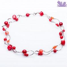 Colier Arya Coral - Colier perle