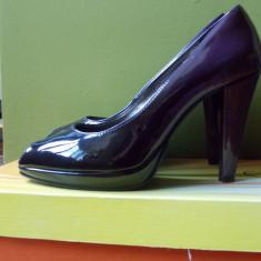 Pantofi din piele lăcuită Solo Donna - Pantof dama Benvenuti, Culoare: Mov, Marime: 37, Cu toc