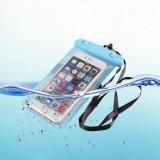 Husa subacvatica impermeabila pentru telefon (UNIVERSAL), Universala, Alb, Albastru, Negru, Verde, Plastic