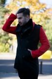 Palton barbatescBlack Red. NEW COLLECTION!!!