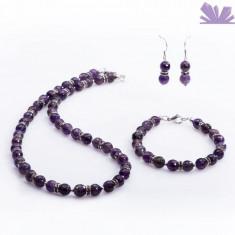 Set Ines Ametist Fatetat - Colier perle