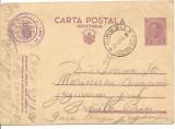 (A) carte postala(militara)- Carol al II lea 1 leu violet, Circulata, Printata