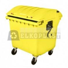 Containere de 1100 l din material plastic sau tabla zincata.