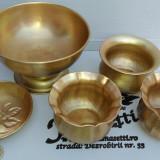 Vase ornamentale din alama, curate si protejate, 5 bucati