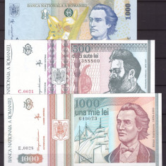 Romania - lot bancnote necirculate