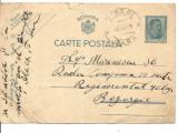 (A) carte postala(militara)- Carol al II lea 4 lei albastru, Circulata, Printata