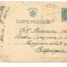 (A) carte postala(militara)- Carol al II lea 4 lei albastru