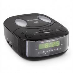 Auna legenda BK ceas radio cu CD player FM / AM AUX alarmă dublă negru