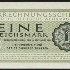 Germania 1944 - 1 Reichsmark Wehrmacht UNC - bancnota europa