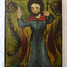 Sfantul Ioan Botezatorul icoana veche pe lemn - Icoana pe lemn