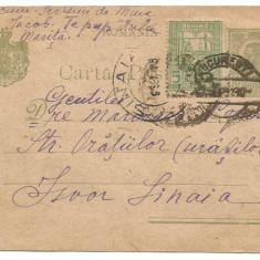 A)carte postala- Carol I, 10 bani -Tipografiate ,verde ,hartie crem