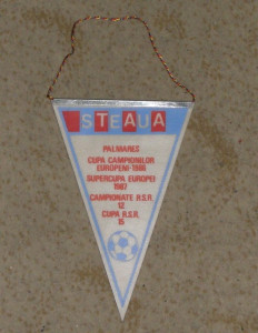 fanion Steaua - FC Rangers,Cupa Campionilor Europeni,TURUL III-02.03.1988