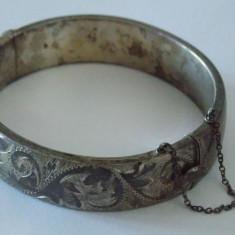 "Bratara argint vintage ""Half & Half"""