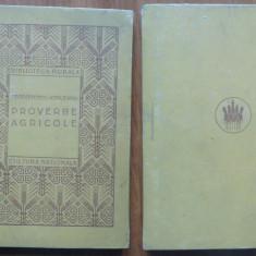 Teodorescu Kirileanu, Proverbe agricole, 1923, editia 1 - Carte Editie princeps