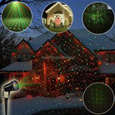 Proiector laser cu jocuri de lumini, Exterior-interior, tip Star Shower, metal