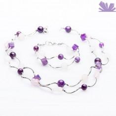 Set Arya Lila - Colier perle