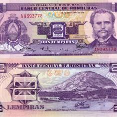 HONDURAS 2 lempiras 1976 UNC!!! - bancnota america