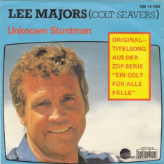 Lee Majors - Unknown stuntman (1985, Scotti) Disc vinil single 7