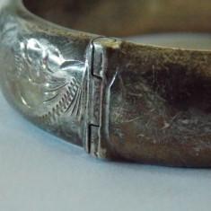 "Bratara argint vintage "" Half & Half"" -1550"