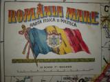 HARTA ROMANIA MARE PE JUDETE +HARTA FIZICA SI POLITICA ///  FATA-VERSO , 1925