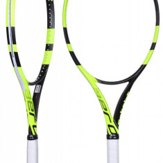 Pure Aero Lite 2016 Racheta tenis de camp Babolat L2, SemiPro, Adulti, Aluminiu/Grafit