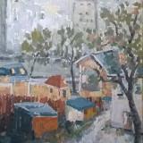 PEISAJ BUCURESTI FERENTARI(MAHALA) - Pictor roman, Peisaje, Ulei, Altul