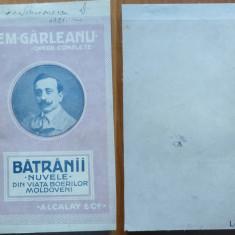 Garleanu, Batranii ; Nuvele ; Din viata boierilor moldoveni, 1921, Bazargic